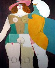RICHARD LINDNER - 1978 Final Color Orig. Graphic Work - Deux Femmes (Two Women)