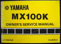 YAMAHA MX100K MOTORCYCLE HANDBOOK/MANUAL 1982 #3T0-28199-13 (USA)