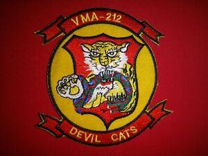 Korea War (1950-1953) USMC Marine VMA-212 DEVIL CATS Patch