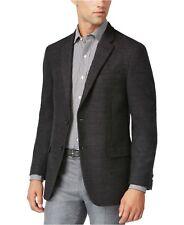 TOMMY HILFIGER NEW Mens 100% Wool Neat Soft Classic-Fit Jacket Bray Charcoal L40