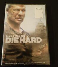 Die Hard 4: Live Free or Die Hard Dvd Brand New Bruce Willis