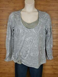 Athleta Gray Geometric Athletic Shirt Womens Size 2X Style # 860600