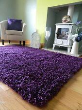 Small Medium Extra Large Purple Soft Thick Living Room Carpet Shaggy Area Rug 66 X 120 Cms