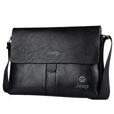Men Genuine PU Leather Business Casual Shoulder Crossbody Bag Briefcase Handbag