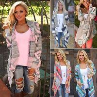 Women Long Sleeve Waterfall Knitted Cardigan Sweater Outwear Jacket Coat Sweater