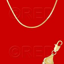 """GOLD over SILVER QUALITY MADE in ITALY 3mm HERRINGBONE CHAIN 18""""   NECKLACE H3E"""