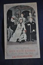 1941 The Day Family in Life With Father, Empire Theater New York Postcard