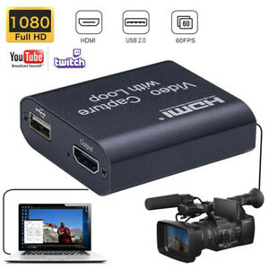 1080P Live HDTV Game HDMI Capture Card Recorder Streamer Adapter Video Recording