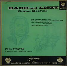 KARL RICHTER Bach & Liszt Organ Recital LONDON LL 1174 VG++