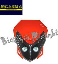 8403 - MASCHERINA FARO ANTERIORE CON LED NERO ARANCIO ENDURO