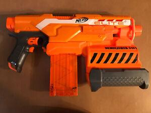 NERF N-Strike Elite Demolisher 2-in-1 Toy Dart Blaster Gun Orange Motorized