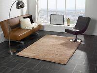 moderne qualité épais Tapis Shaggy Souple en beige et 7 tailles Tapis rond tapis