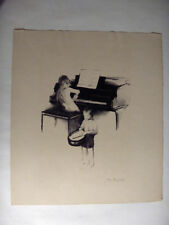 AAA Lithograph Margery Ryerson Rainy Day Concert Pencil Signed Listed Artist
