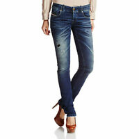 DIESEL GRUPEE NE 0607U Womens Denim Sweat Jogg Jeans Super Slim Skinny