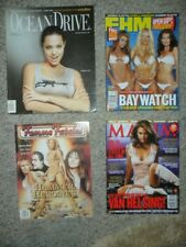 Lot of 11 MEN'S MAGAZINES Maxim/FHM/Femme Fatales/Stuff/Ocean Drive KELLY HU