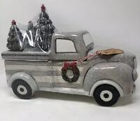 10 Strawbeer Street Truck With Christmas Trees Cookie Jar. NEW
