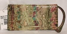 Brahmin Melbourne ANNMARIE Clutch Large Wristlet Wallet AMETHYST Brown Berry NWT