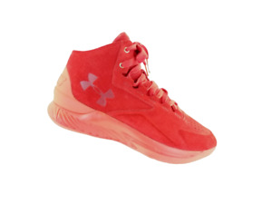 Under Armour Curry  Mens 1 Lux Suede Red LIMITED 1/500 1298701-600 Size 11