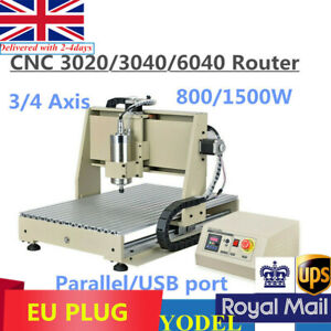 3020/3040/6040 Engraver CNC Router 3/4 Axis 800/1500W Engraving Milling Machine