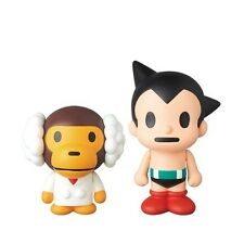Dr. Milo & Astro Boy by A Bathing Ape MEDICOM VCD bape vinyl figure set NEW
