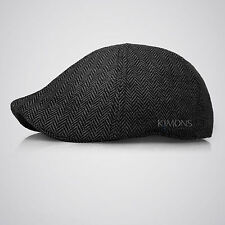 XQ Herringbone Duckbill Ivy Hat Classic Wool Gatsby Cap Golf Flat Newsboy winter