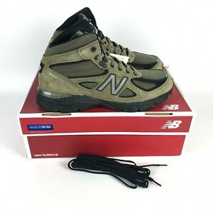 New Balance 990V4 Army Suede Boot Size 10 Olive Green MO990FL4