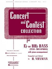 Concert and Contest Collection for Bass Tuba B.C. Solo Part Rubank Sol 004471810