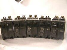 5 Ge 30 Amp Circuit Breaker 2 Pole 240 Vac Bolt On Thqb2130 Lot Of 5