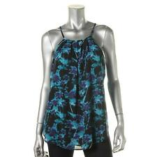 Sanctuary 6719 Womens Blue Halter Floral Print Pleated Blouse Top M BHFO