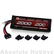 Venom LiPo 2S 1P 7.4V 2000mAh 20C 1/16 Universal Plug - VNR15023