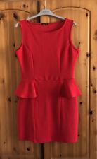 Ladies Red Peplum Dress - Size 14