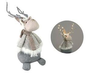 LED Plush Reindeer Christmas Decoration Soft Toy Festive Novelty Kids 52cm