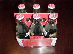 1996 Olympics Atlanta 100 Years of Olympics Coke Full Six Pack with Holder