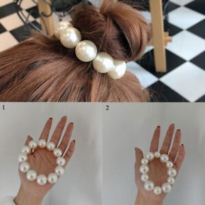 Fashion Pearl Beaded Hair Rope Ties Rubber Band Women Elegant Headpiece Elastic
