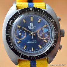 TISSOT SEASTAR NAVIGATOR ref. 40522 40MM VALJOUX 7733 BLUE DIAL STEEL TOOL DIVER