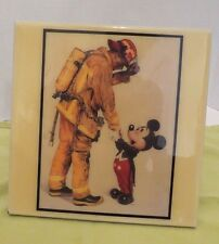 DISNEY PARKS ~ Mickey Mouse & Fireman by Charles Boyer on Tile by GRANDER IMAGES