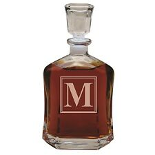 Personalized Whiskey Decanter Custom Engraved Monogrammed for Free with Initial