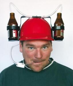 Trinkhelm mit Getränkehalter Bierhelm Partyhelm Bierwanderung Grillen Party Spaß