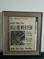MUHAMMAD ALI IS BEATEN - SPINKS WINS TITLE | VINTAGE NEWSPAPER | FREE SHIPPING |