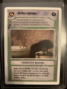 Star Wars CCG Premiere WB Unlimited Obi-Wan's Lightsaber. MINT NEVER PLAYED