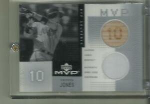 2002  Chipper. Jones  Upper Deck  MVP  Used Bat & Jersey card  # c-cj