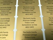 PERSONALISED MINI LABELS - label size 21mm x 38mm - available in many colours