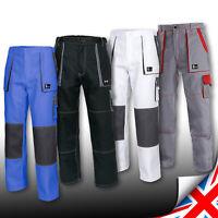 Men Work Trousers Pants Painters Decorators White NEW Black Blue Cotton Lux&J.