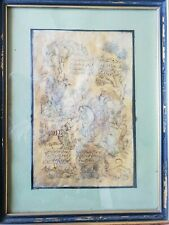 Antique Persian painting on parchment India miniature **