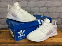 ADIDAS EQT SUPPORT ADVANCE LADIES TRAINERS WHITE/PURPLE VARIOUS SIZES SPRING