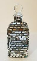 20th Century Italian Mosaic Mirrored Cut Glass Decanter Bottle