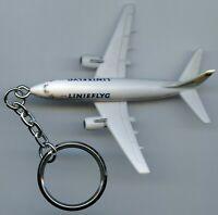 Sweden Vintage Advertising Keychain Linjeflyg Airlines Boeing 737-500 !!!