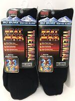 Hot Headz Heat Max Thermal Insulated Boot Socks, Men's Large, Black, 2-PK (BD)