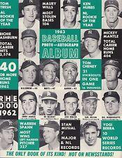1963 Baseball Album Official MLB Baseball Vintage Magazine Program Mays/Aaron!!
