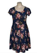 Scoop Neck Summer/Beach Plus Size Tea Dresses